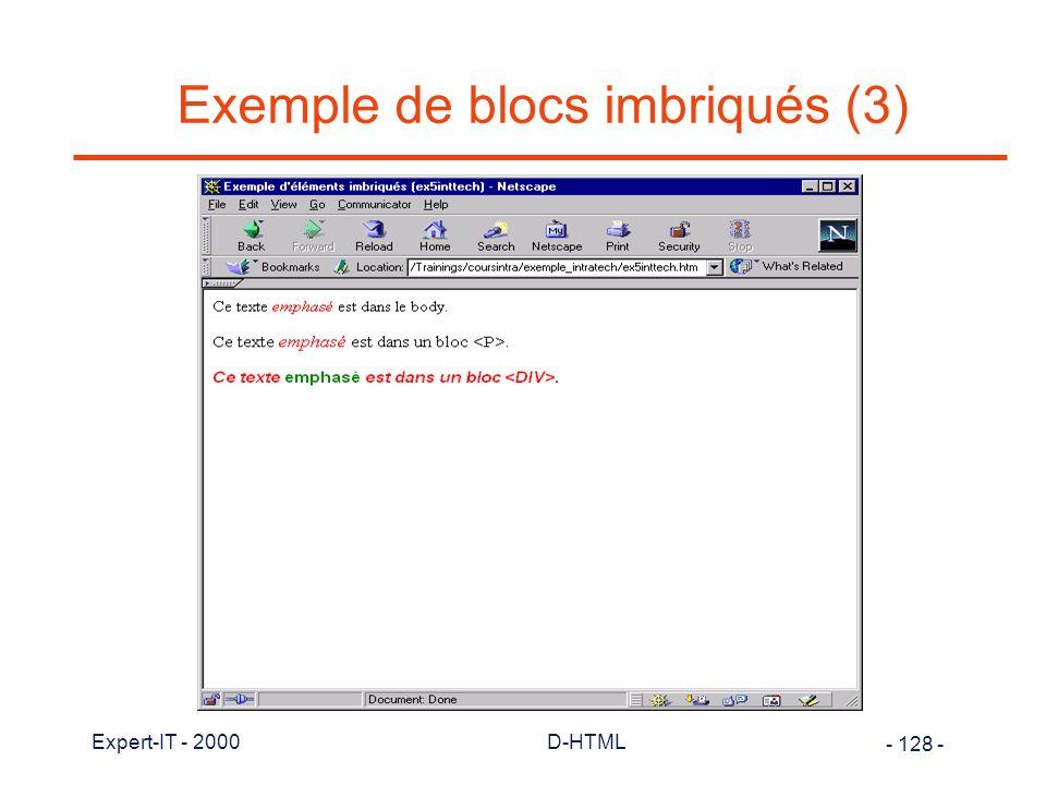Exemple de blocs imbriqués (3)