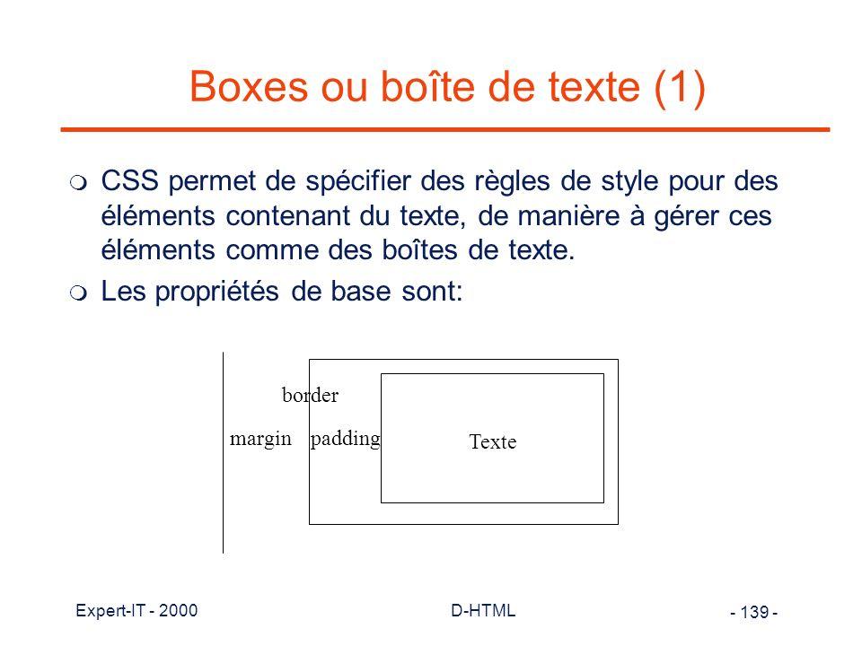 Boxes ou boîte de texte (1)