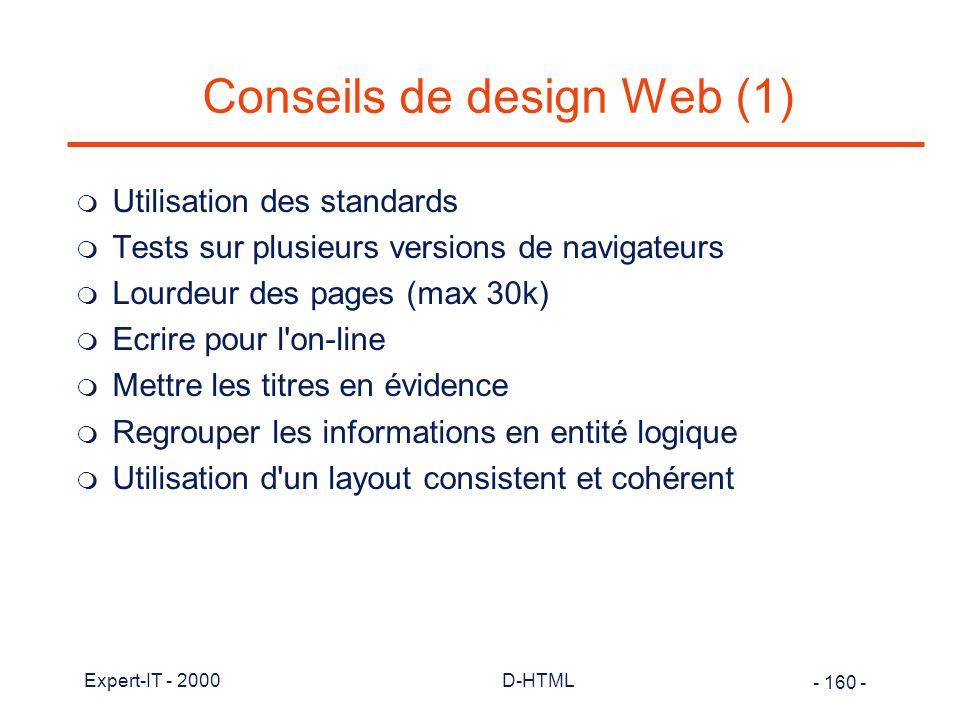 Conseils de design Web (1)