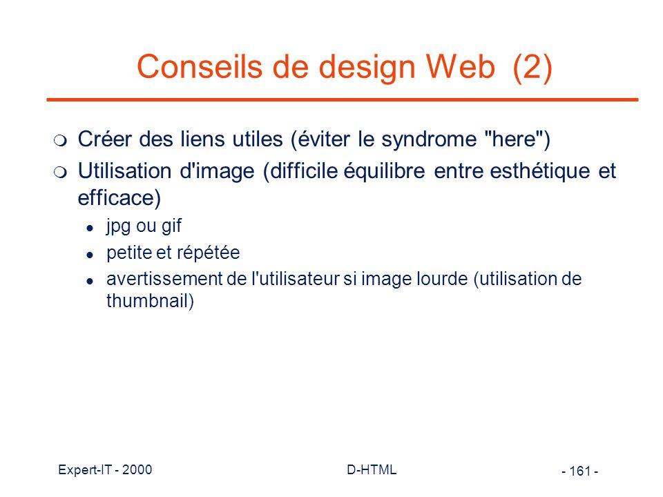 Conseils de design Web (2)