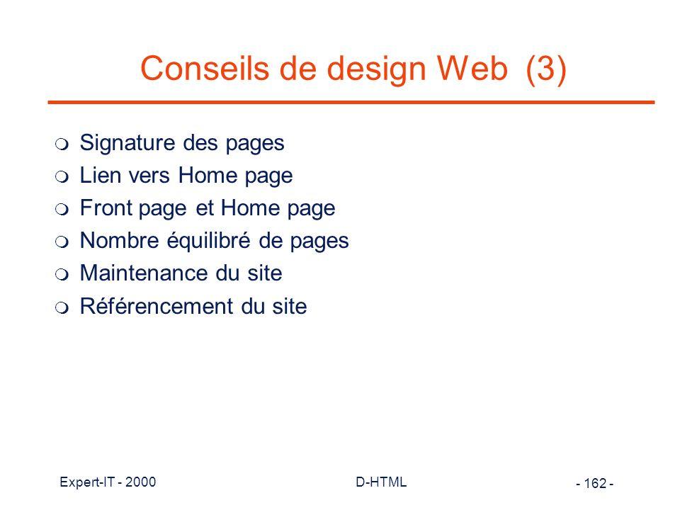 Conseils de design Web (3)