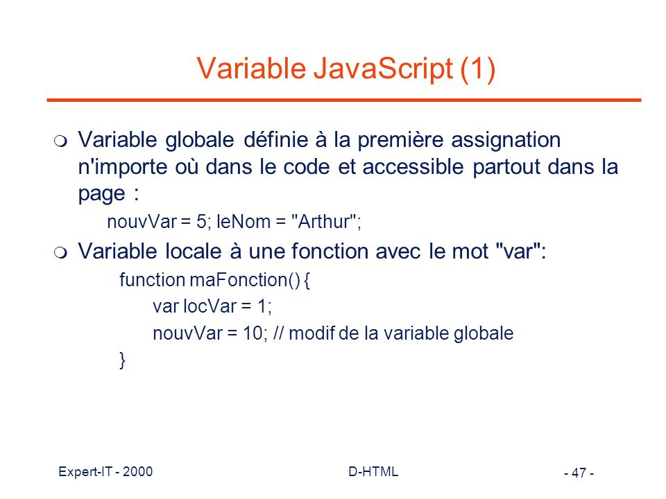 Variable JavaScript (1)