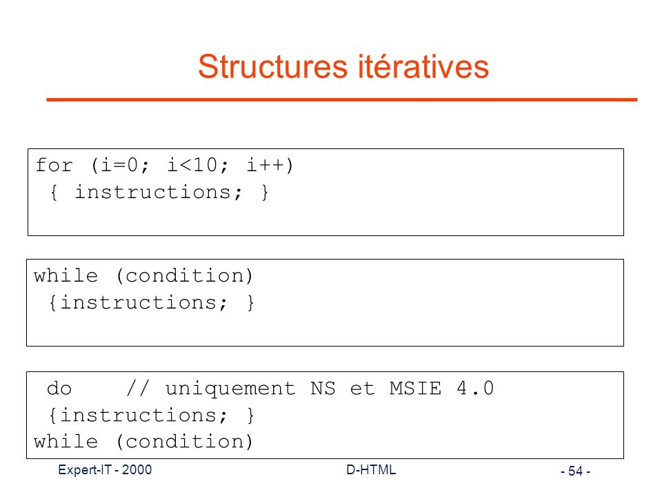 Structures itératives