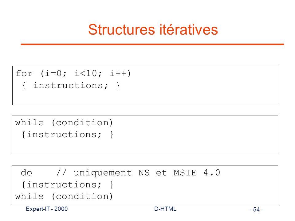 Structures itératives