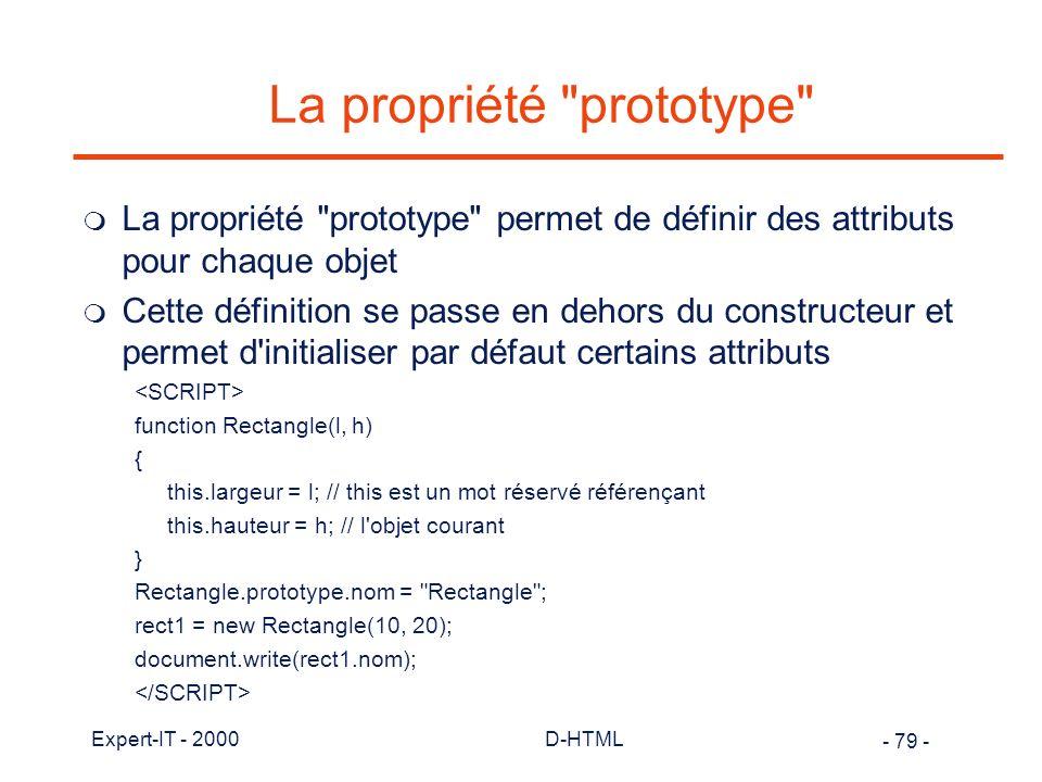 La propriété prototype