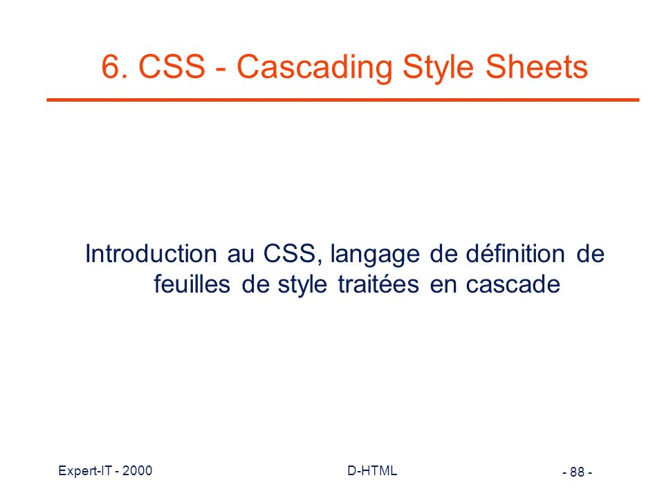 6. CSS - Cascading Style Sheets