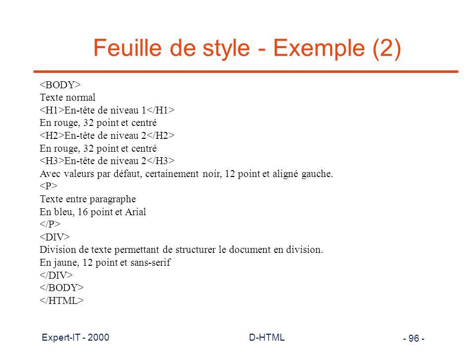 Feuille de style - Exemple (2)