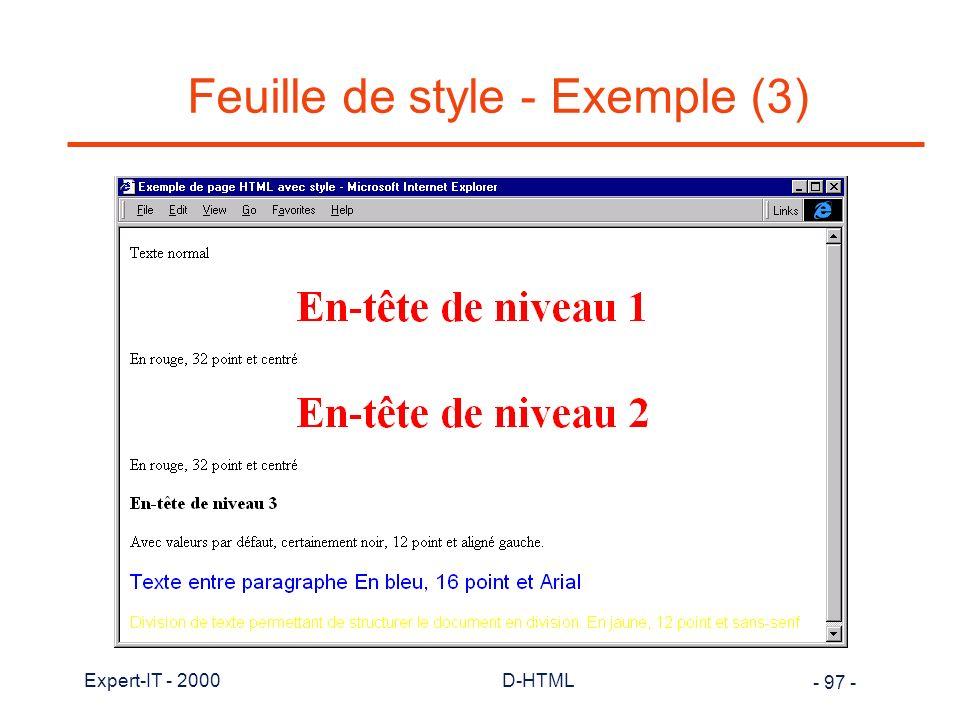 Feuille de style - Exemple (3)