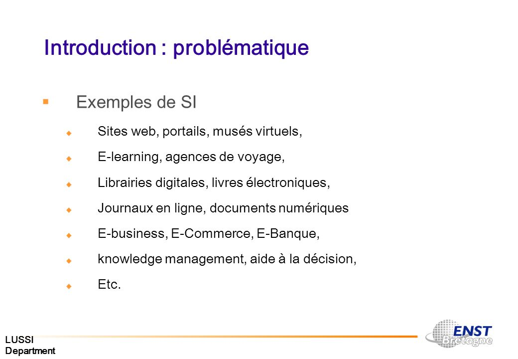 Introduction : problématique