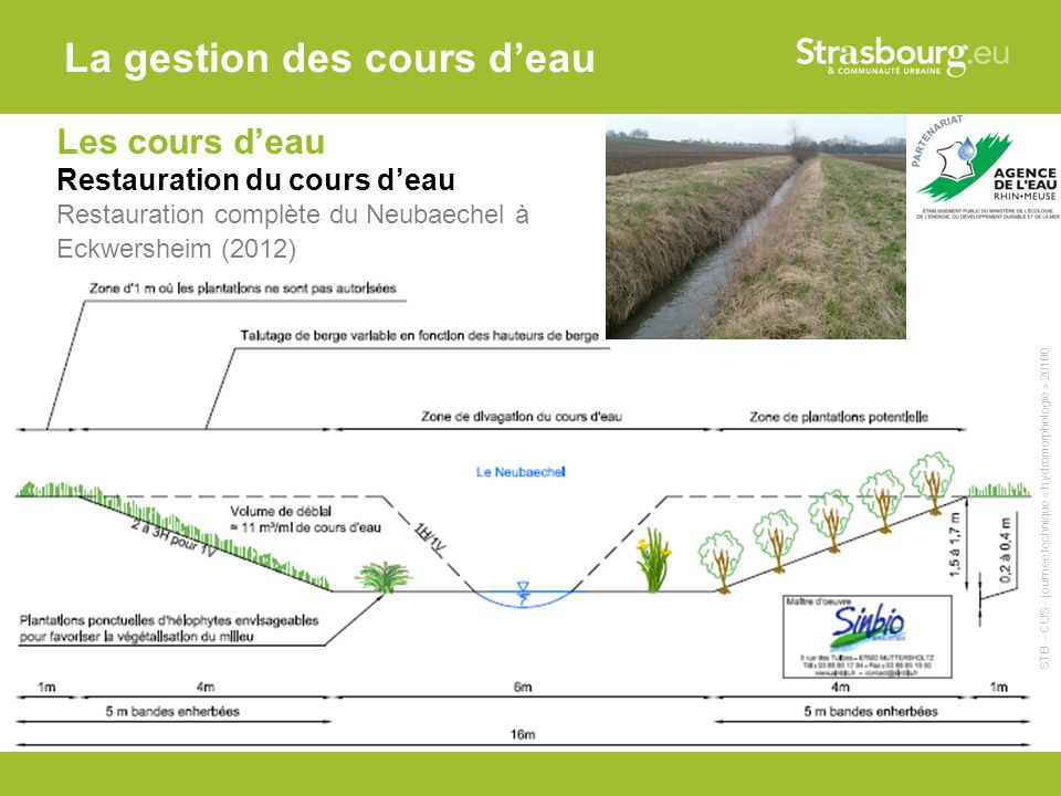 La gestion des cours d'eau