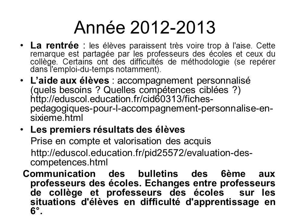 Année 2012-2013