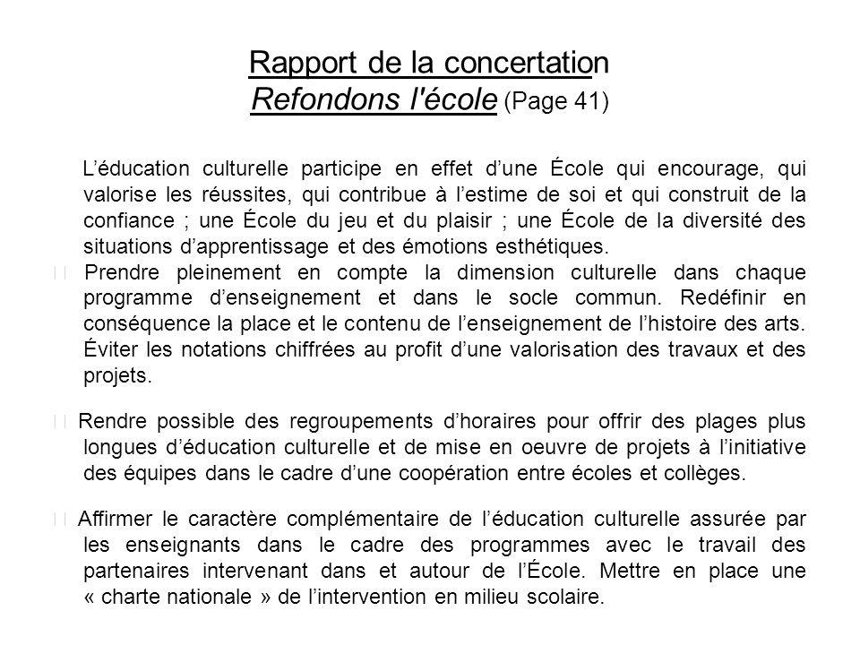 Rapport de la concertation Refondons l école (Page 41)