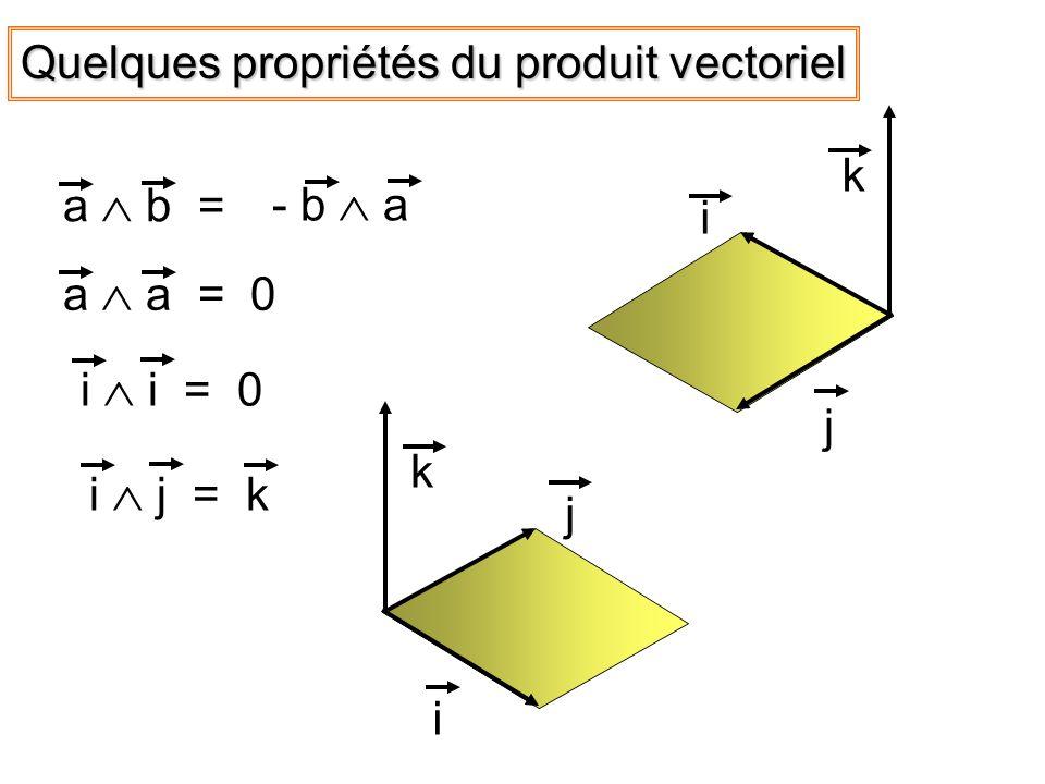 Quelques propriétés du produit vectoriel