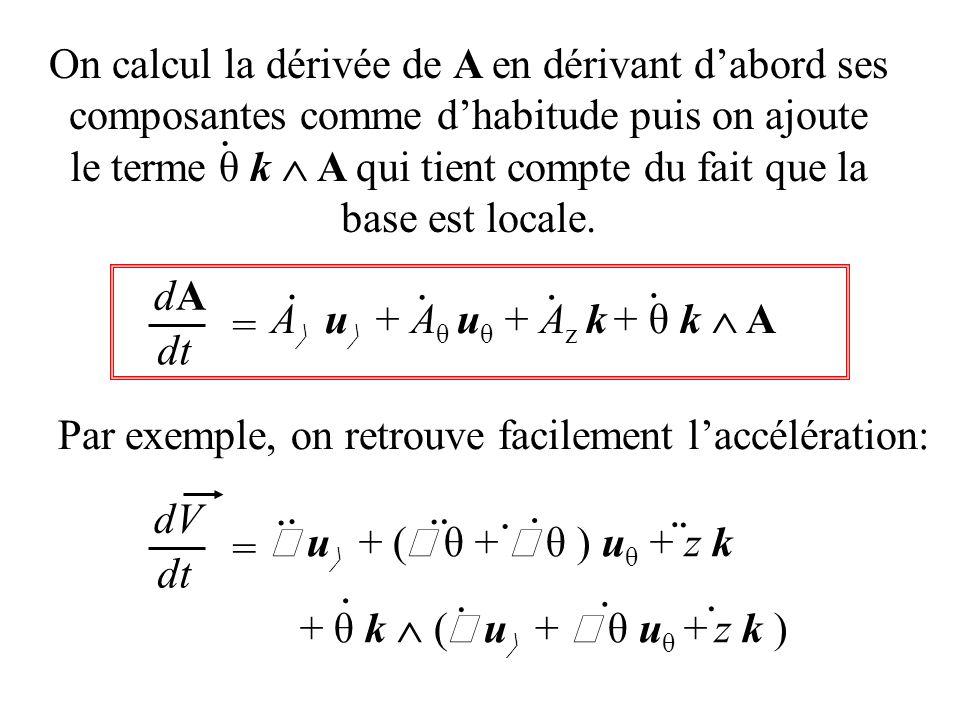 le terme θ k  A qui tient compte du fait que la base est locale.