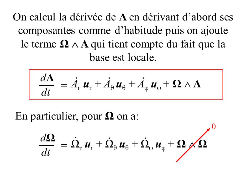 le terme Ω  A qui tient compte du fait que la base est locale.