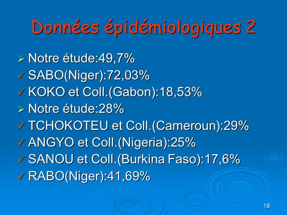Données épidémiologiques 2
