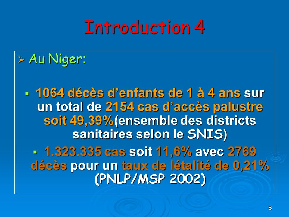 Introduction 4 Au Niger: