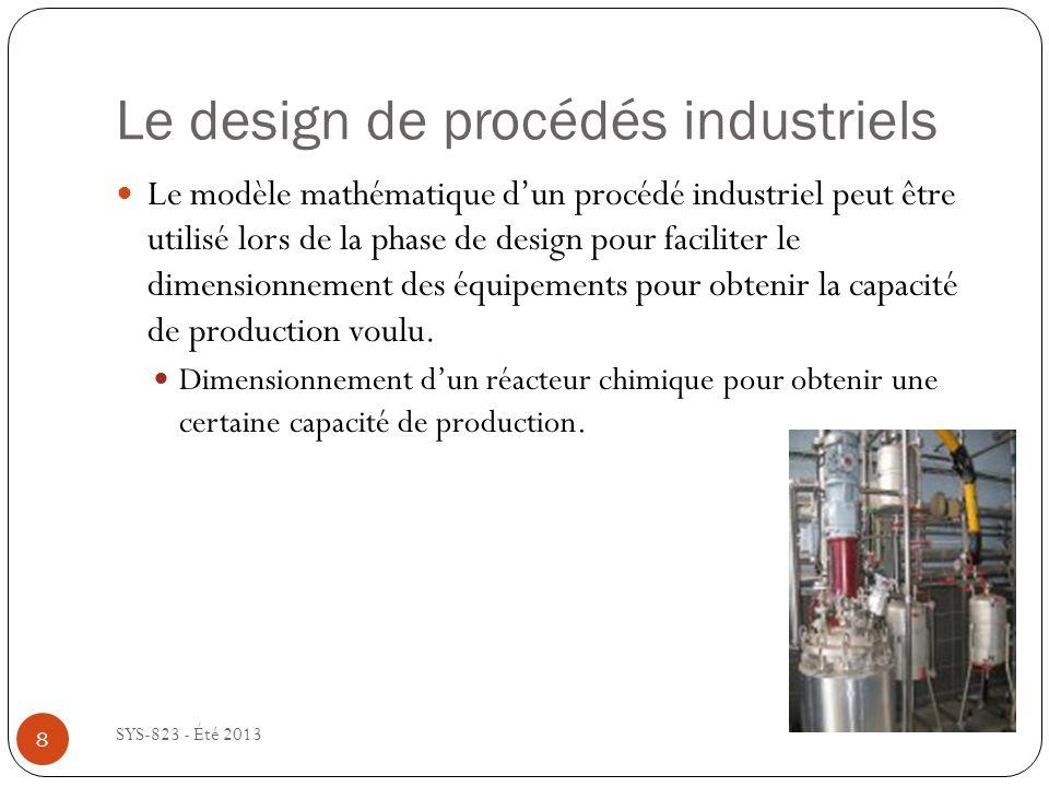Le design de procédés industriels