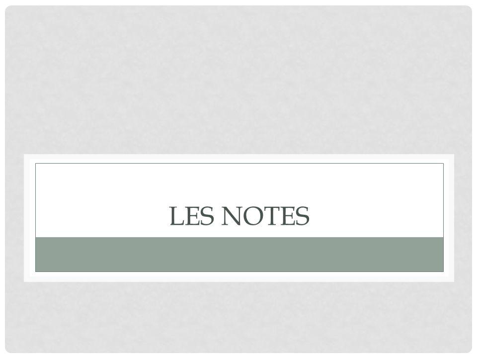 Les Notes