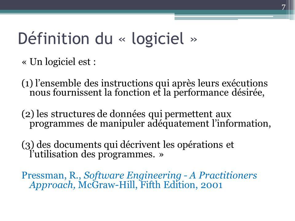 Définition du « logiciel »