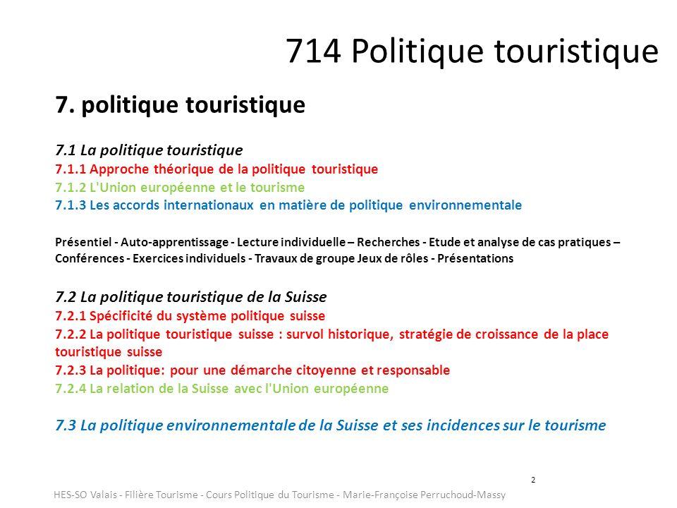 714 Politique touristique