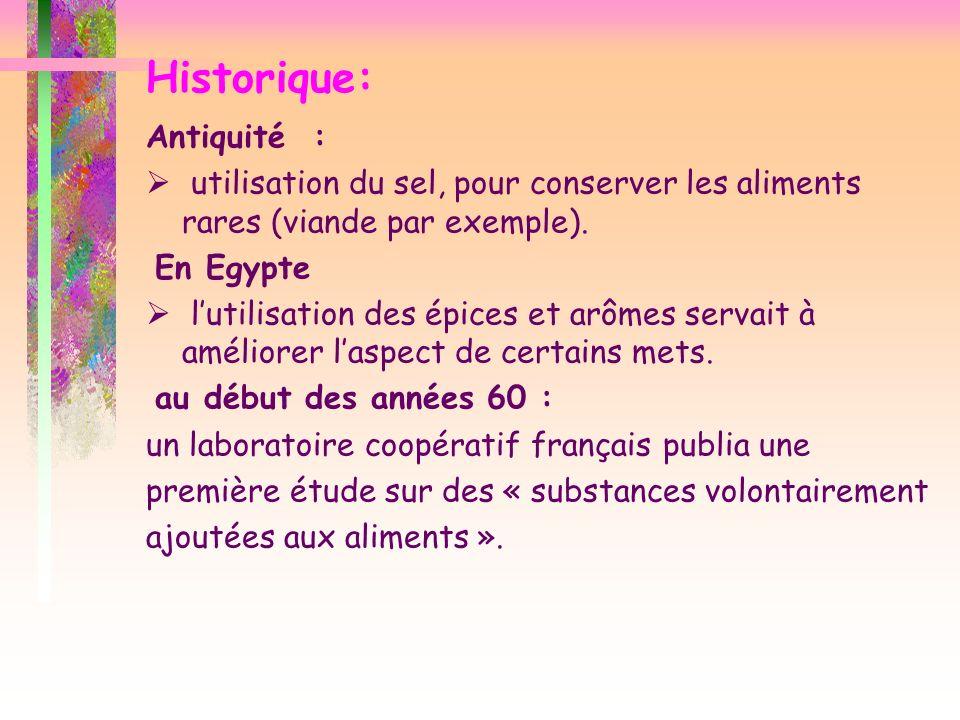 Historique: Antiquité :