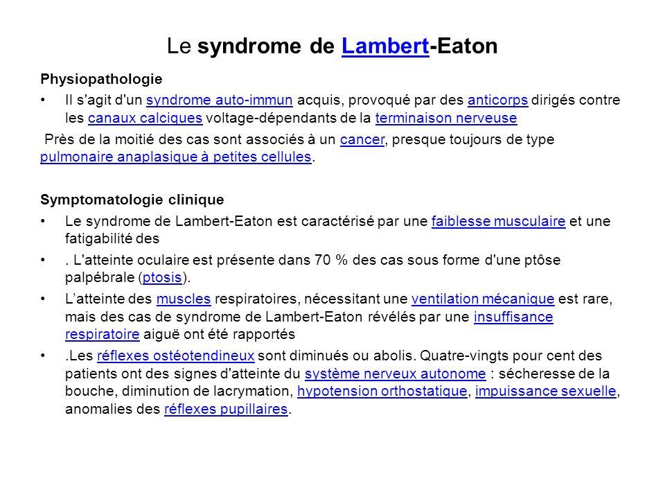 Le syndrome de Lambert-Eaton