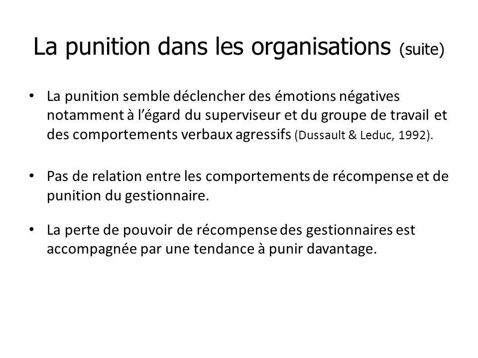 La punition dans les organisations (suite)