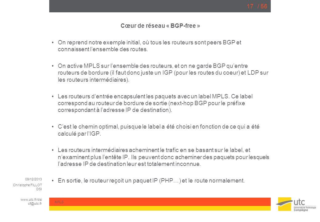 Cœur de réseau « BGP-free »
