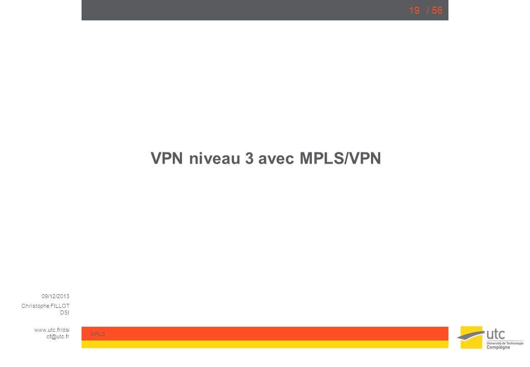 VPN niveau 3 avec MPLS/VPN
