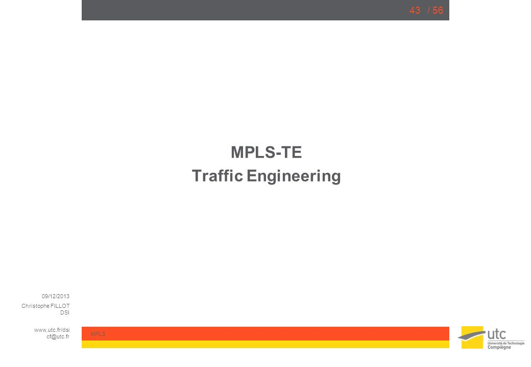 MPLS-TE Traffic Engineering