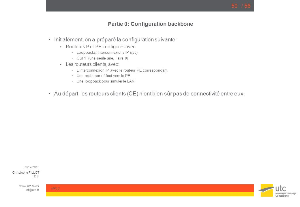 Partie 0: Configuration backbone