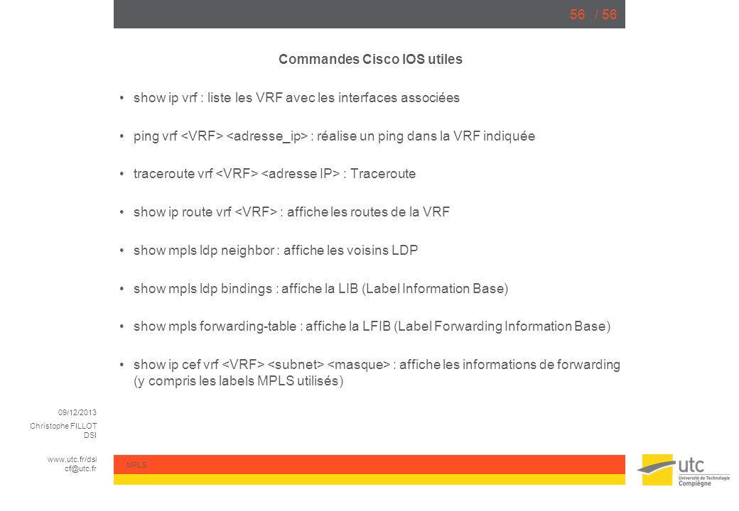 Commandes Cisco IOS utiles