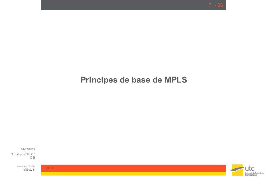 Principes de base de MPLS