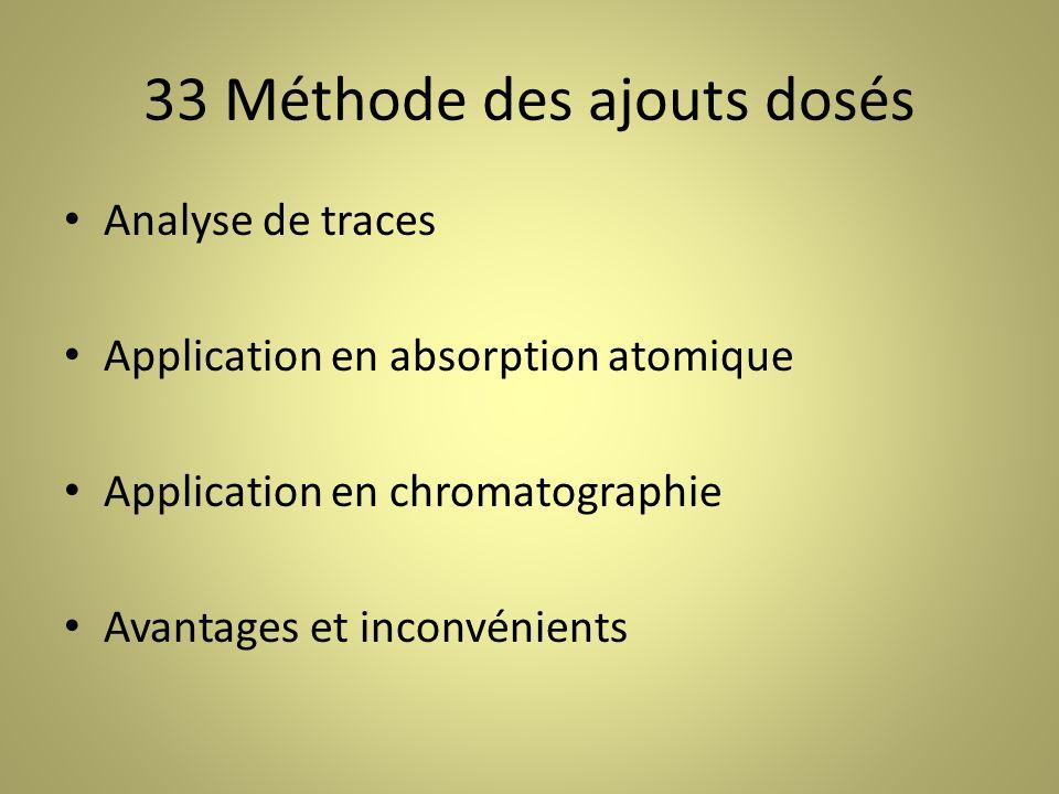 33 Méthode des ajouts dosés