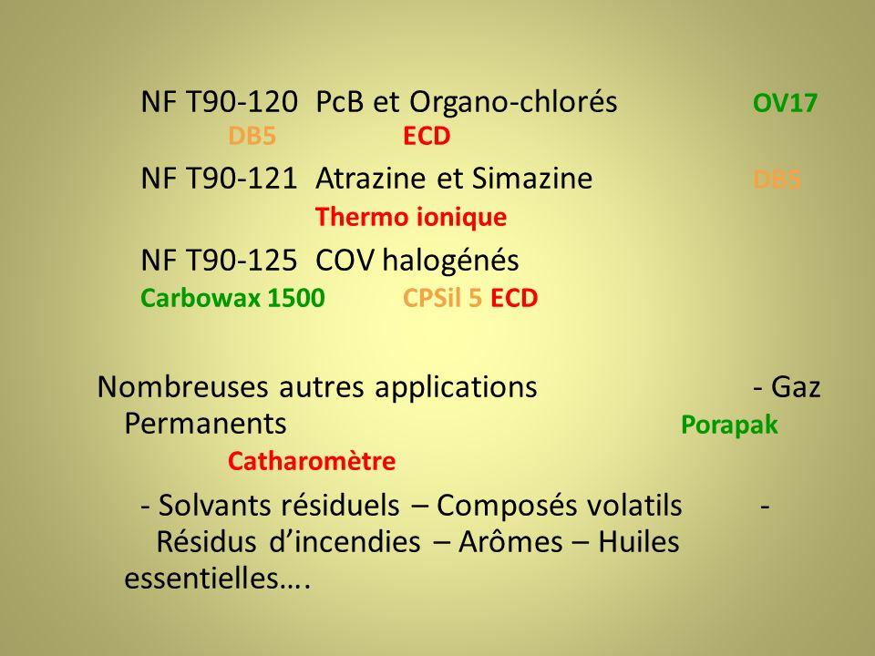 NF T90-120 PcB et Organo-chlorés OV17 DB5 ECD