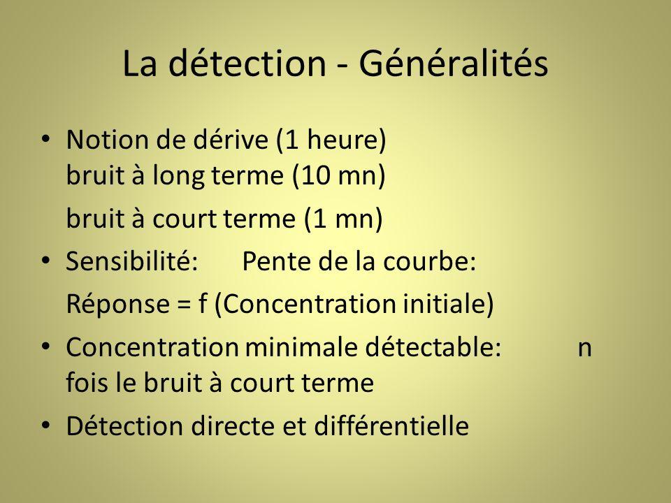 La détection - Généralités