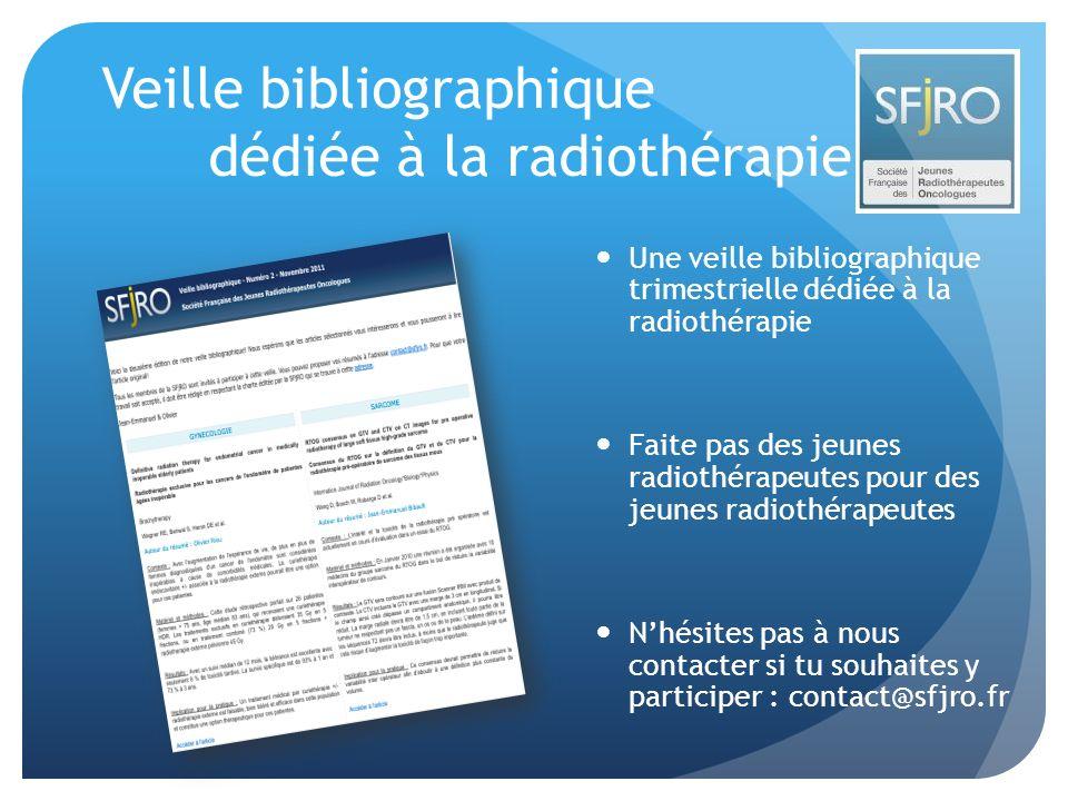 Veille bibliographique dédiée à la radiothérapie