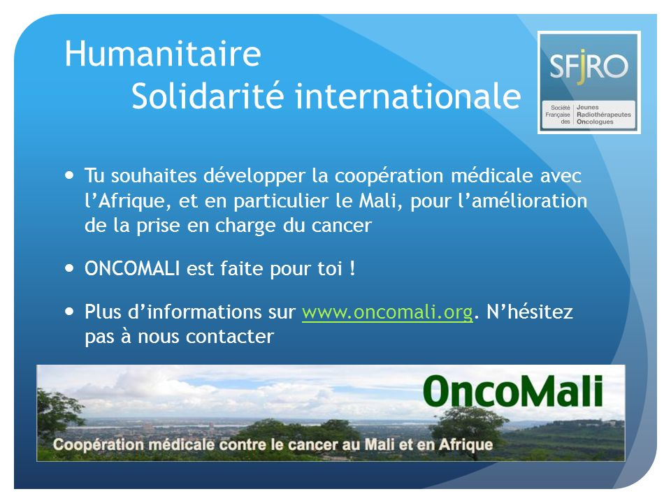 Humanitaire Solidarité internationale