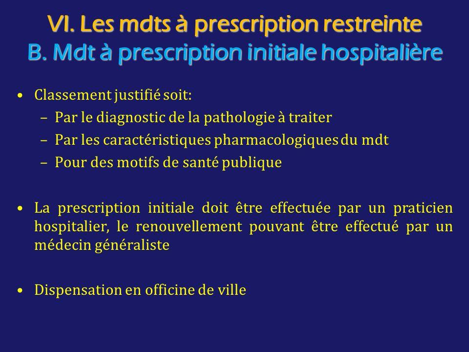 VI. Les mdts à prescription restreinte B