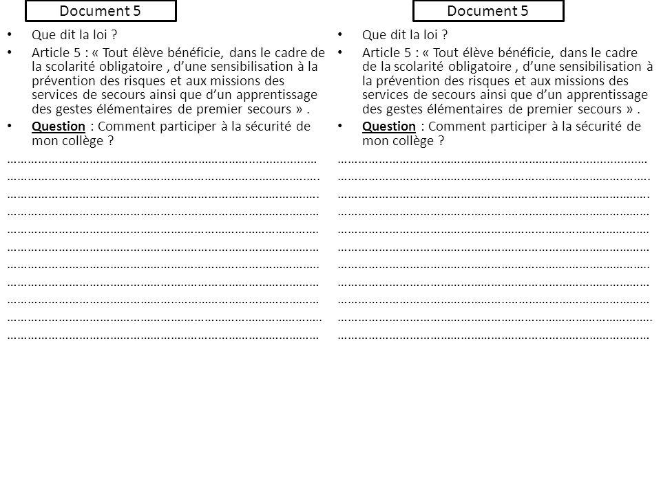 Document 5 Document 5 Que dit la loi