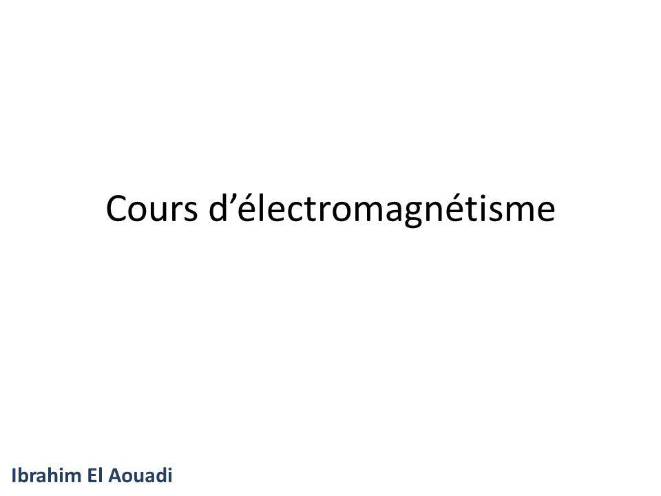Cours d'électromagnétisme
