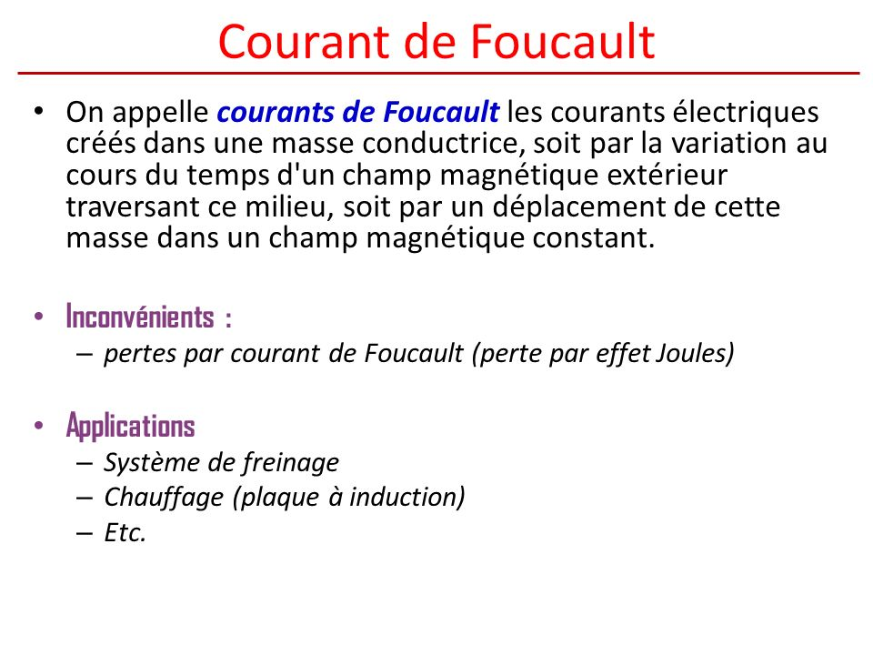 Courant de Foucault