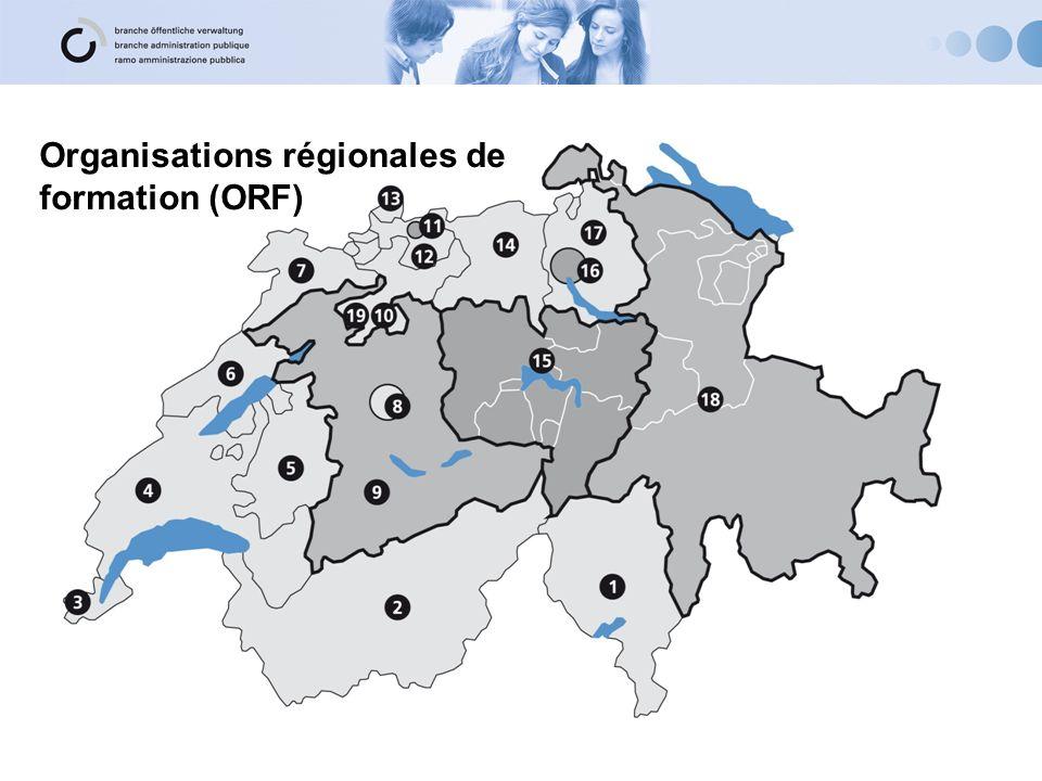 Organisations régionales de formation (ORF)