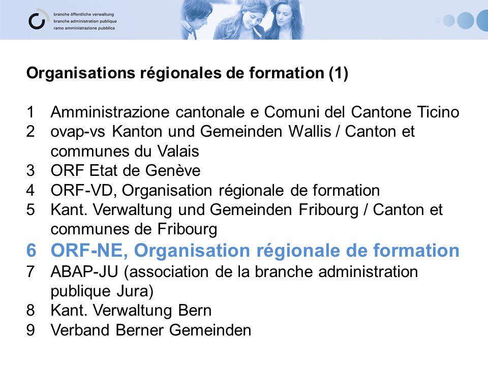 ORF-NE, Organisation régionale de formation