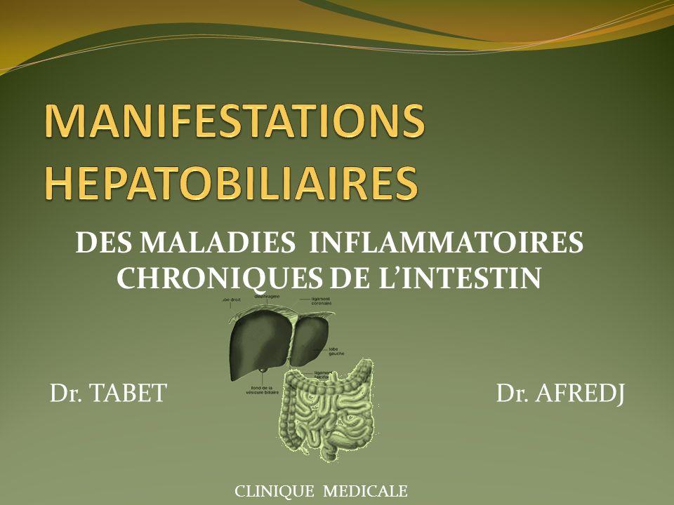 MANIFESTATIONS HEPATOBILIAIRES