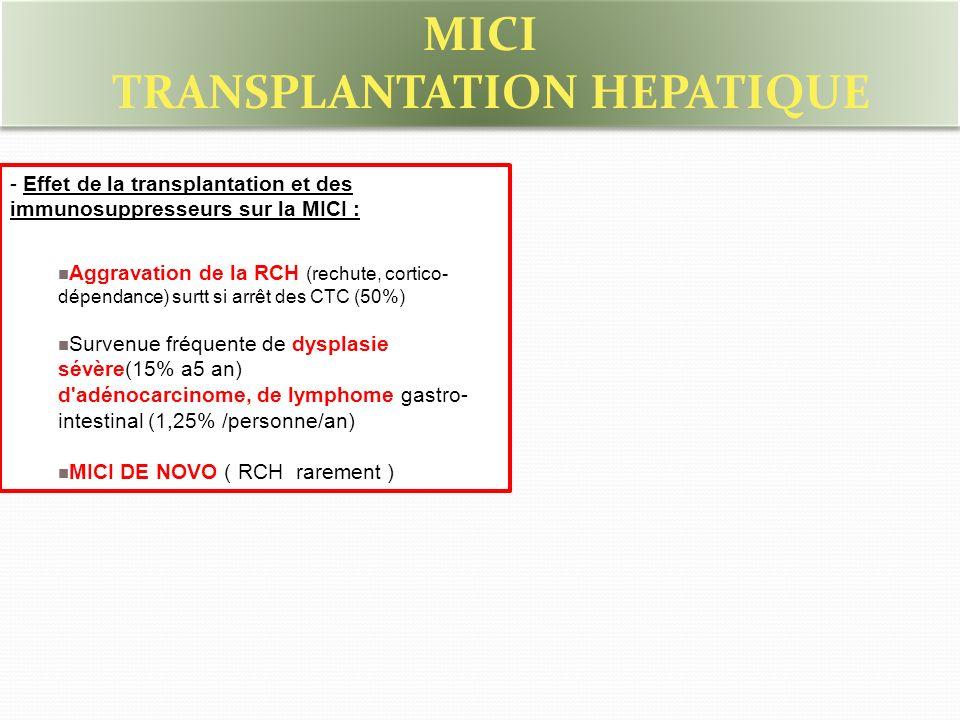 TRANSPLANTATION HEPATIQUE