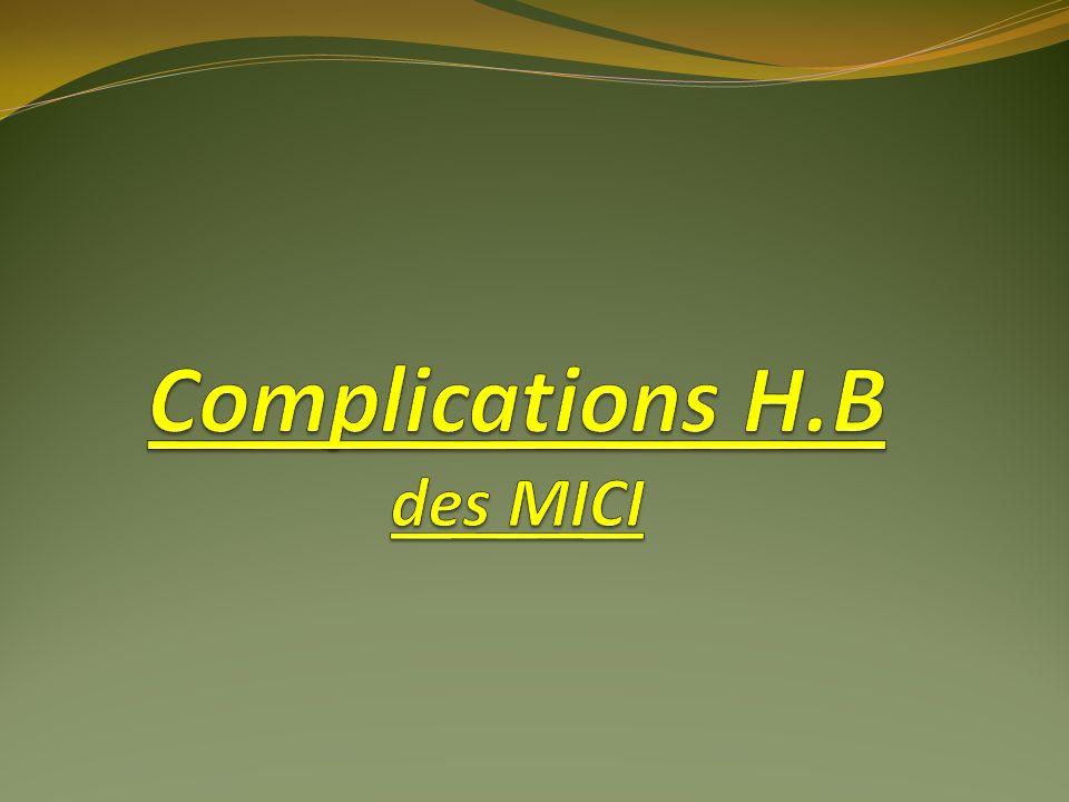 Complications H.B des MICI