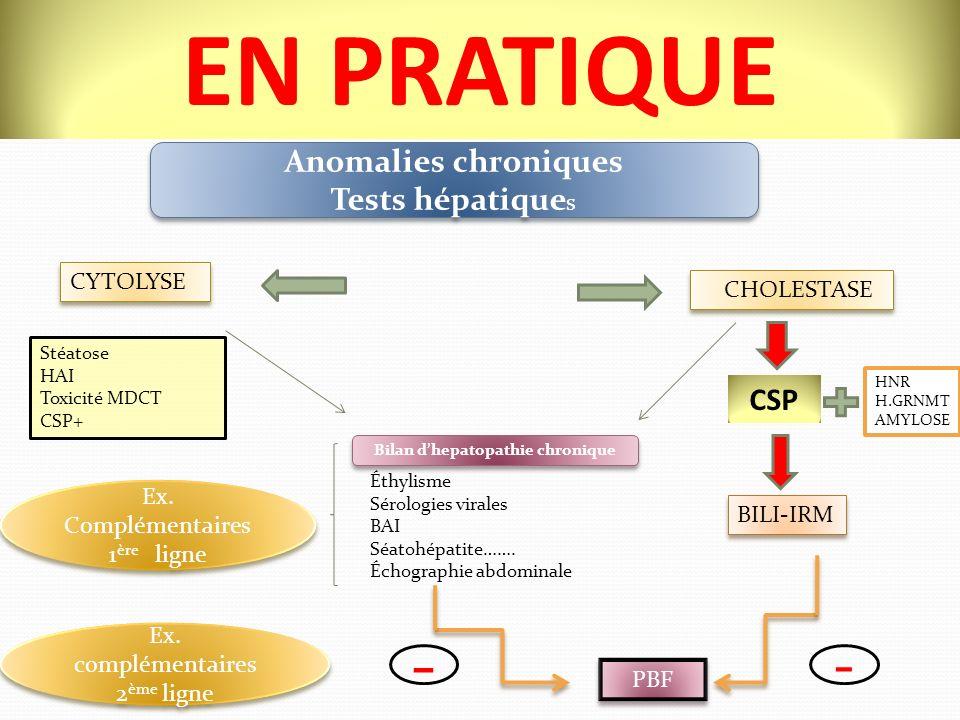 Bilan d'hepatopathie chronique