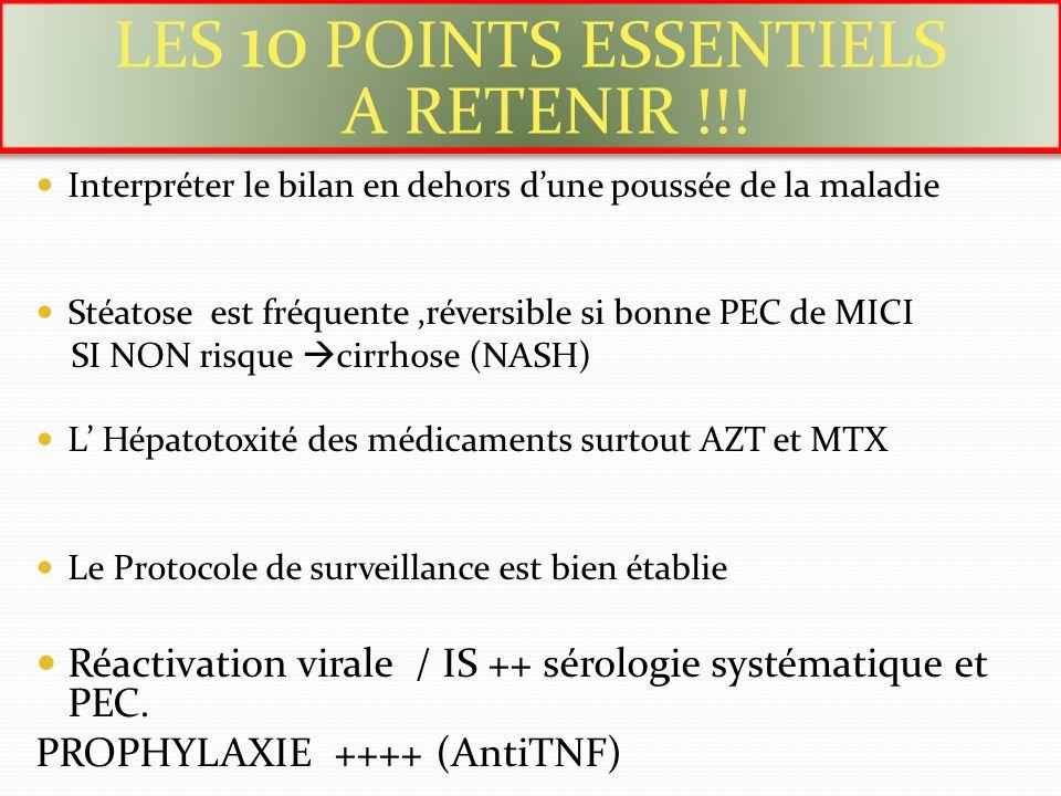 LES 10 POINTS ESSENTIELS A RETENIR !!!